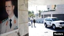 БҰҰ химиялық қару мамандарының көлігі. Дамаск, 8 қазан 2013 жыл. (Көрнекі сурет)