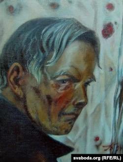 Гаўрыла Вашчанка. Партрэт Васіля Быкава. 1997 г.