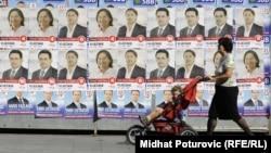 Na plakatima ranijih predizbornih kampanja uveliko su dominirali muškarci, Sarajevo. (fotoarhiv)