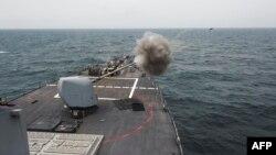 Luftanija USS Fitzgerald gjatë një ushtrimi në det në prill të këtij viti