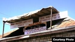 Rahim Musanın 2007-ci ildə evinin çardağında təşkil etdiyi etiraz aksiyası, 30 may 2007