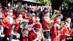 Дания. Всемирный парад Санта Клаусов
