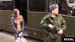 Мария Варфоломеева во время освобождения из плена. Март 2016 года