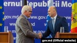 Frank-Walter Steinmeier și Pavel Filip