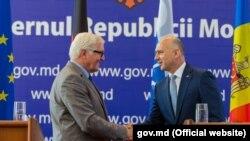 Șeful diplomației germane Frank-Walter Steinmeier, și premierul Pavel Filip la Chisinau
