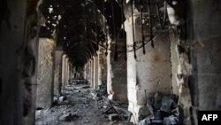 Pamje të shkatërrimit të një kompleksi në Alepo