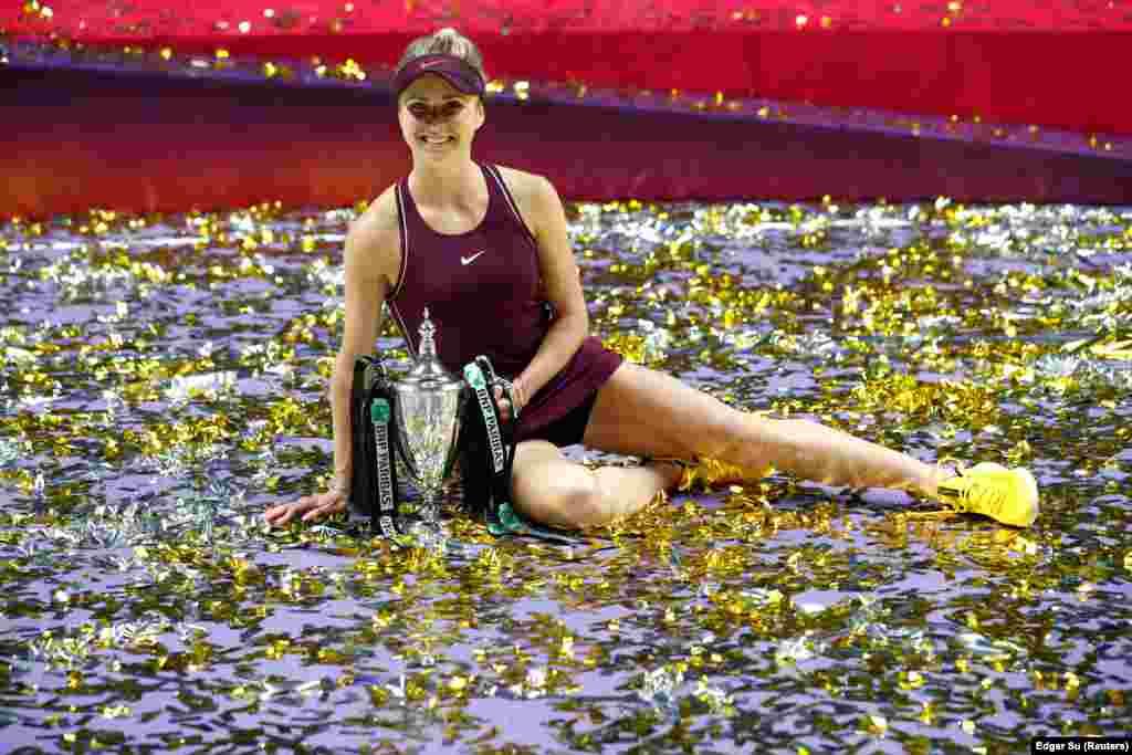 Еліна Світоліна стала першою українкою, яка перемогла в підсумковому турнірі Жіночої тенісної асоціації (WTA). Сингапур, 20 жовтня 2018 року