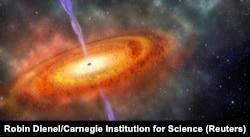 Самая далекая из известных сверхмассивных черных дыр была обнаружена в 2017 году
