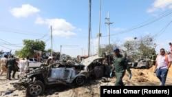 Detalj sa mesta napada u Mogadišu