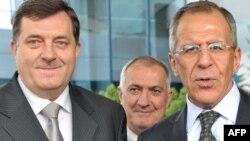 Predsjednik RS Milorad Dodik sastao se sa šefom diplomatije Rusije Sergejom Lavrovim u Sarajevu 2009. godine