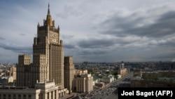Vedere aeriană a Ministerului de Externe de la Moscova