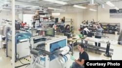 A 3D Robotics drone factory (Photo courtesy of Misha Gravenor/Wired)