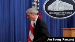 Специалният прокурор Робърт Мълър в първото си публично изявление след публикуването на доклада от разследването