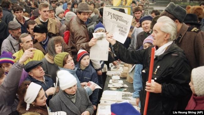Архивные фото. Референдум о независимости Украины 1 декабря 1991 года (фотогалерея)