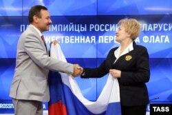 Андрій Фомочкін на урочистому прийомі в Паралімпійському комітеті Росії