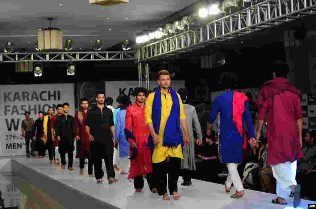 Shahnameh presented several of his designs during Fashion Week.