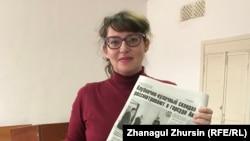 Репортер газеты «Актобе таймс» Татьяна Токарь. Актобе, 14 мая 2019 года.