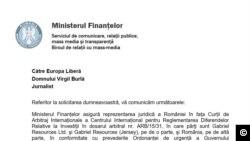 Ministerul de Finanțe dezvăluie onorariile avocaților care apără interesele statului în procesul cu Gabriel Resources