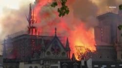 Рік після пожежі собору Нотр-Дам-де-Парі. Реставрація зупинилась через коронавірус – відео