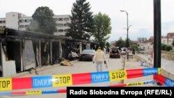 Spitali i djegur në Tetovë. 9 shtator 2021.