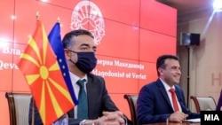 Вицепремиерот Никола Димитров и премиерот Зоран Заев