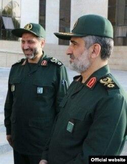 امیرعلی حاجیزاده در کنار معاونش مجید موسوی