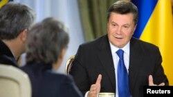 Ուկրաինայի նախագահ Վիկտոր Յանուկովիչը հանդիպում է լրագրողների հետ, Կիև, 26-ը նոյեմբերի, 2013թ․