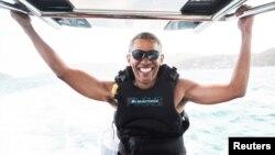 Барак Обама у відпустці на Віргінських островах кілька місяців тому