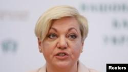Председатель Национального банка Украины Валерия Гонтарева. Киев, 10 апреля 2017 года.