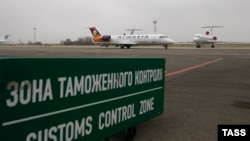 Зона таможенного контроля в аэропорту Краснодара