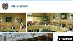 عکسی که وزیر کشور ایران برای نوشتهاش در اینستاگرام استفاده کرده است.