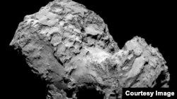 Акси кометаи 67P/ Чурюмов – Герасименко, ки 19 сентябри соли 2014 бо ёрии ДК «Розетта» гирифта шудааст.