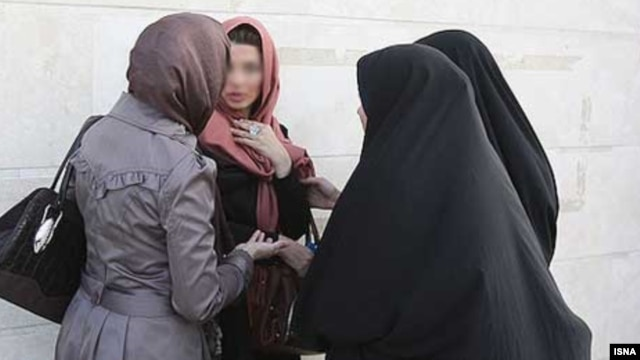 "Officially, the hijab is promoted as ""protection"" for women against evil in society."