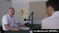 Sreto Malinović u beogradskom studiju RSE