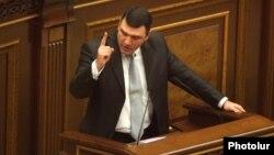 Armenia - Newly appointed Prosecutor-General Gevorg Kostanian addresses parliament, Yerevan, 1Oct2013.