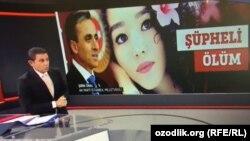 "Türkiýäniň telekanaly özbegistanly Nadira Kadyrowanyň ölüminiň ""şübhelidigini"" aýdýar."