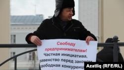 Казанда 2016 елның 28 февралендә Борис Немцовны искә алу җыенында Марсель Шәмсетдинов