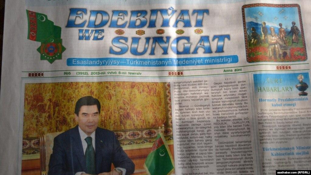 SRG türkmen metbugatynda prezidenti tankytlamagyň akyla sygjak zat däldigini aýdýar.