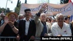 Protest opozicije u Podgorici, 20.4.2013.