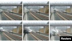 Кадры крушения поезда