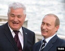 Владимир Воронин и Владимир Путин. 2007 год