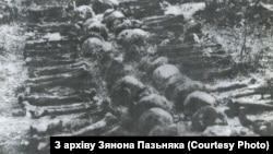 Раскопкі ў Курапатах у 1988 годзе. З архіву Зянона Пазьняка.