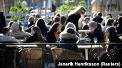 Швециядә ачык ресторан