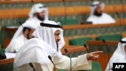 Kuvajt -- Parlamenti i shtetit gjatë një seance (Ilustrim)
