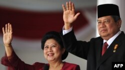 Presidenti i Indonezisë Yudhoyono dhe bashkëshortja e tij
