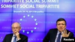 Герман ван Ромпей (л) і Жозе Мануель Баррозу