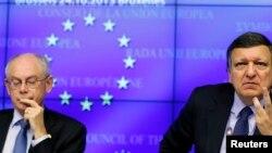 Herman Van Rompuy i Jose Manuel Barroso