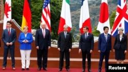 Лидеры «большой семерки» на Сицилии. Италия, 26 мая 2017 года.