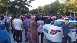 Протест в Южной Осетии, Цхинвал, 28 августа