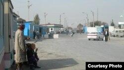 Узбекско-таджикская граница.